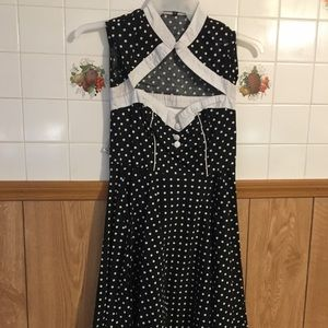 Dresses & Skirts - Black with white polka dots dress